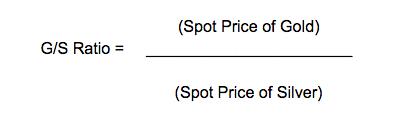 Gold/silver ratio formula